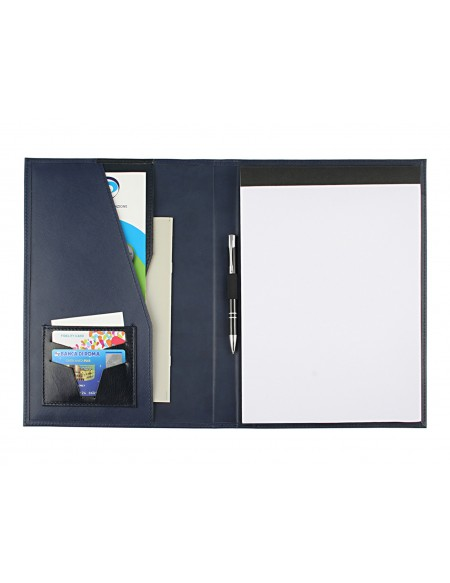 Saffiano Document folder for meeting - blue
