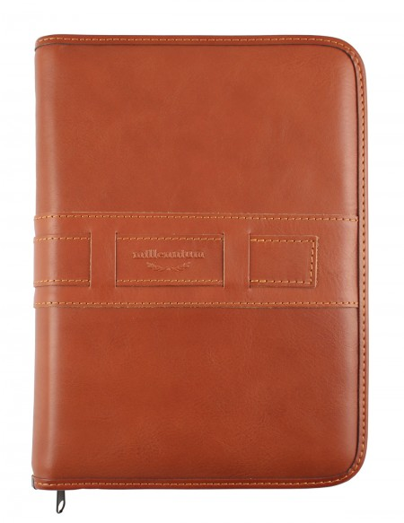 Millennium Genuine leather diary - cm 17x24 - daily or weekly - light brown