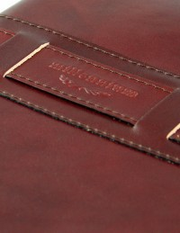 Millennium Genuine leather diary - cm 17x24 - daily or weekly - dark brown
