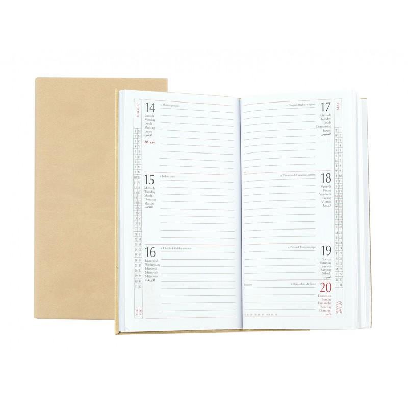 Refil diary 8x15 weekly - beige