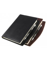 Faux leather diary - cm 15x21 daily and 17x24 - daily or weekly  -  dark brown