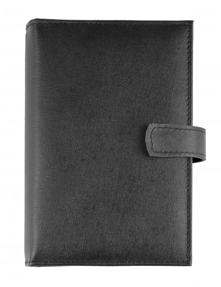 Saffiano Genuine leather Organizer - cm 13x19 - black
