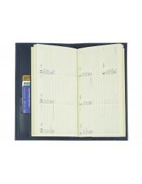 """Agenda tascabile in vera pelle """"Saffiano"""" 8x16 - blu"""