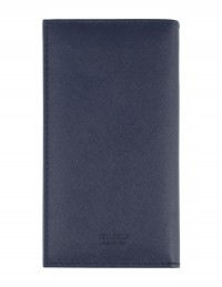 Saffiano Genuine Leather pocket diary - cm 8x16 - blue