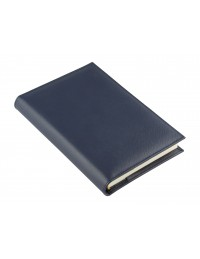 """Saffiano""  Genuine leather diary with daily or weekly sections - cm 15x21 / 17x24 - blue"