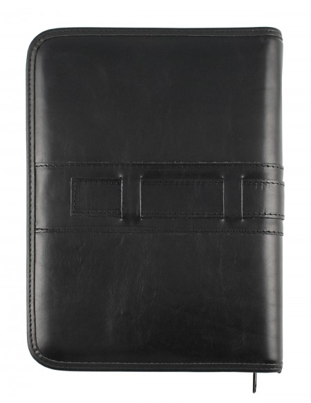 Millennium Genuine leather diary - cm 17x24 - daily or weekly - black